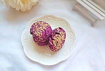 今天吃什么#消灭家里存货:简单快手的粗粮早餐:紫薯芝麻饼的做法