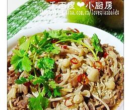 金针菇炒羊肉片的做法