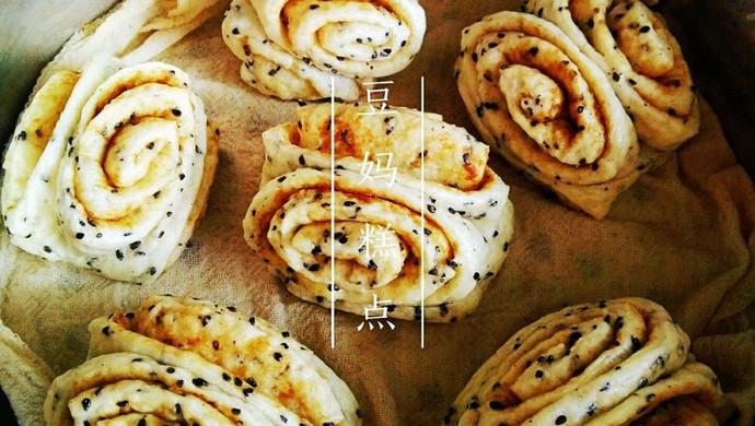 【麻香卷】——黑芝麻的另类吃法,芝麻酱花生酱做成卷子浓浓香