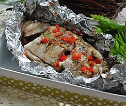 锡纸包烤鲈鱼的做法