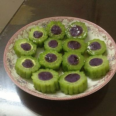 忆苦思甜---紫薯蜜苦瓜