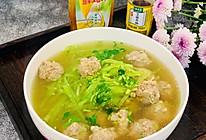 #太太乐鲜鸡汁芝麻香油#羊肉丸子萝卜丝汤的做法