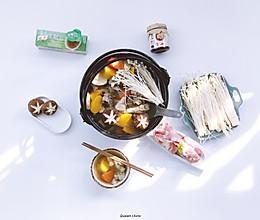 老母鸡红薯胡萝卜浓汤火锅的做法