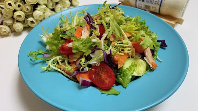 #321沙拉日#鸡胸肉蔬菜沙拉的做法
