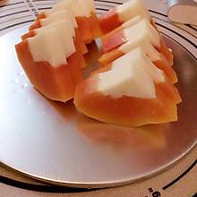 丰胸美容木瓜椰汁糕~下午茶好搭档