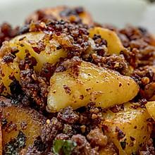 麻辣肉燥炒紫苏土豆 | 米饭伴侣