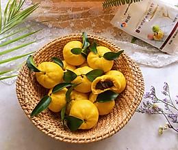 #年味十足的中式面点#桔子豆沙包的做法
