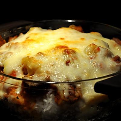茄汁牛腩焗饭