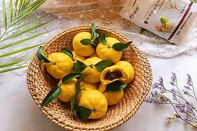 #年味十足的中式面点#桔子豆沙包
