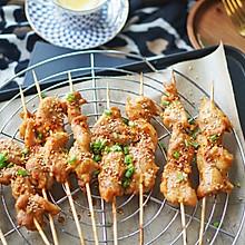 烤箱菜|香烤味曾、孜然粉、辣椒粉鸡肉串,接地气