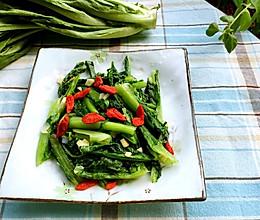蒜蓉莴笋叶的做法
