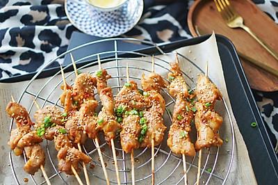 烤箱菜|香烤味曾孜然粉辣椒粉鸡肉串,接地气