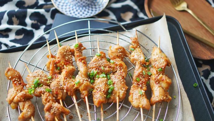 烤箱菜 香烤味曾孜然粉辣椒粉鸡肉串,接地气