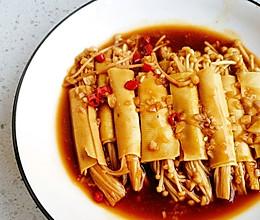 #餐桌上的春日限定#豆皮金针菇卷的做法