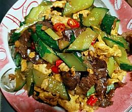 黄瓜小炒肉的做法