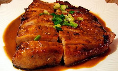 烤猪颈肉的做法