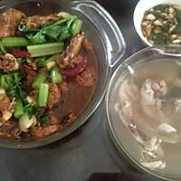 #一鱼两吃 # 红烧胖头鱼+ 鸡腿菇鱼头汤的做法图解5