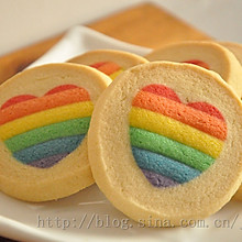 换个方式说爱你——彩虹爱心饼干(详细图解)