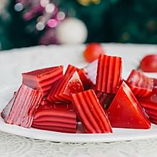圣诞红丝绒液木薯粉牛奶千层糕(无须生熟浆)