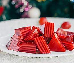 圣诞红丝绒液木薯粉牛奶千层糕(无须生熟浆)的做法