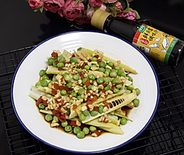 #春日时令,美味尝鲜#豌豆捞汁春笋的做法