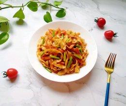 蔬菜火腿炒刀削面#母亲节,给妈妈做道菜#的做法