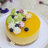 百香果南瓜慕斯生日蛋糕(百香果果冻夹层)的做法图解21