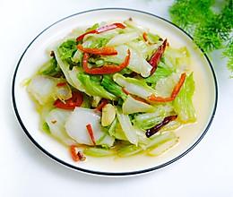 #憋在家里吃什么#清炒白菜。的做法