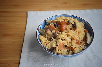香菇虾米蒸豆饭