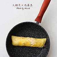 火腿芝士鸡蛋卷的做法图解8