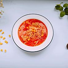 金针菇西红柿肉丸汤
