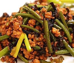 蒜苔炒肉末-迷迭香的做法