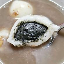 莲子百合红豆沙汤圆