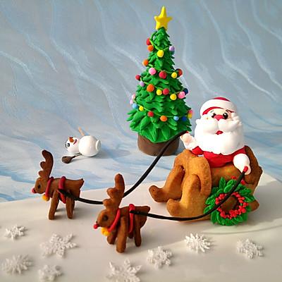 圣诞节翻糖立体饼干
