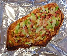 西葫芦烤肉蘑菇披萨的做法