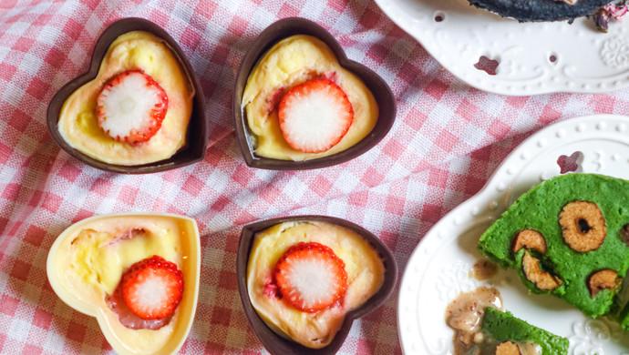 低脂 草莓酸奶糕