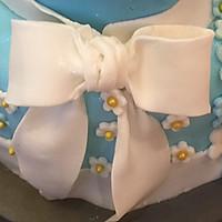 翻糖双层生日蛋糕的做法图解19