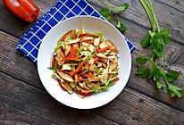 芹菜红椒炒香干的做法