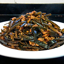 海带丝炒肉末