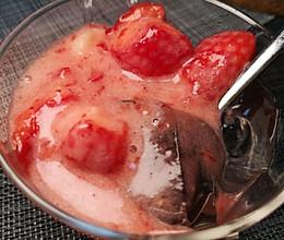 草莓白凉粉的做法
