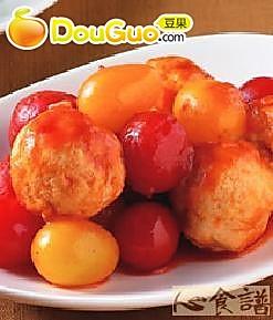 茄汁烩丸的做法