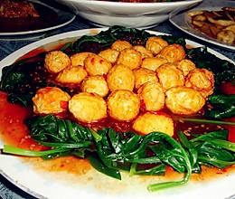 菠菜鹌鹑蛋的做法