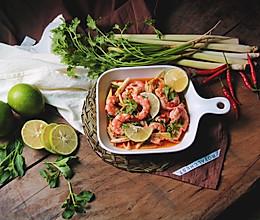 泰式青柠香茅浸虾的做法