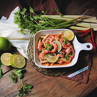 泰式青柠香茅浸虾