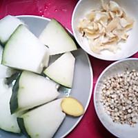薏米百合猪尾冬瓜汤的做法图解2