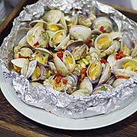 锡纸烤蛤蜊的做法图解11