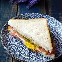 煎蛋火腿三明治的做法图解12