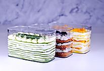 抹茶芝士千层盒子&奥利奥咸奶油盒子&芒果千层盒子的做法