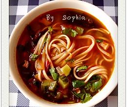 酸汤面的做法