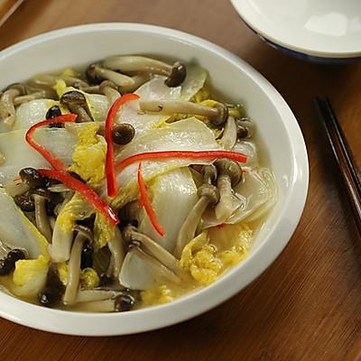 蟹味菇炒娃娃菜